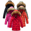 HOT retail winter thick girls long sections down jacket kids girls down jacket children duck feathers inside it