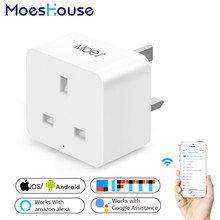 UK WiFi Smart Socket Power Plug Outlet Mobile APP Remote Control Works with Alexa Google Home No Hub Required