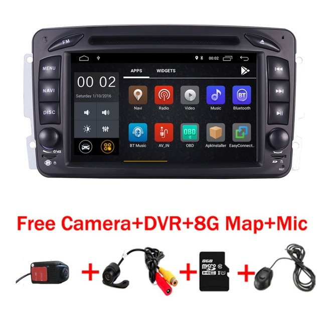 """In Stock 7""""Android 8.1 Car DVD Player For Mercedes Benz W209 W203 W163 W463 Viano W639 Vito Wifi 3G GPS Bluetooth Radio Stereo"""