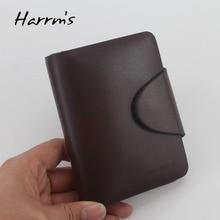 Harrms berühmte marke echtes leder männer brieftaschen mode braune kurze luxus männlichen handtasche hohe qualität mit haspe 2017 kostenloser versand