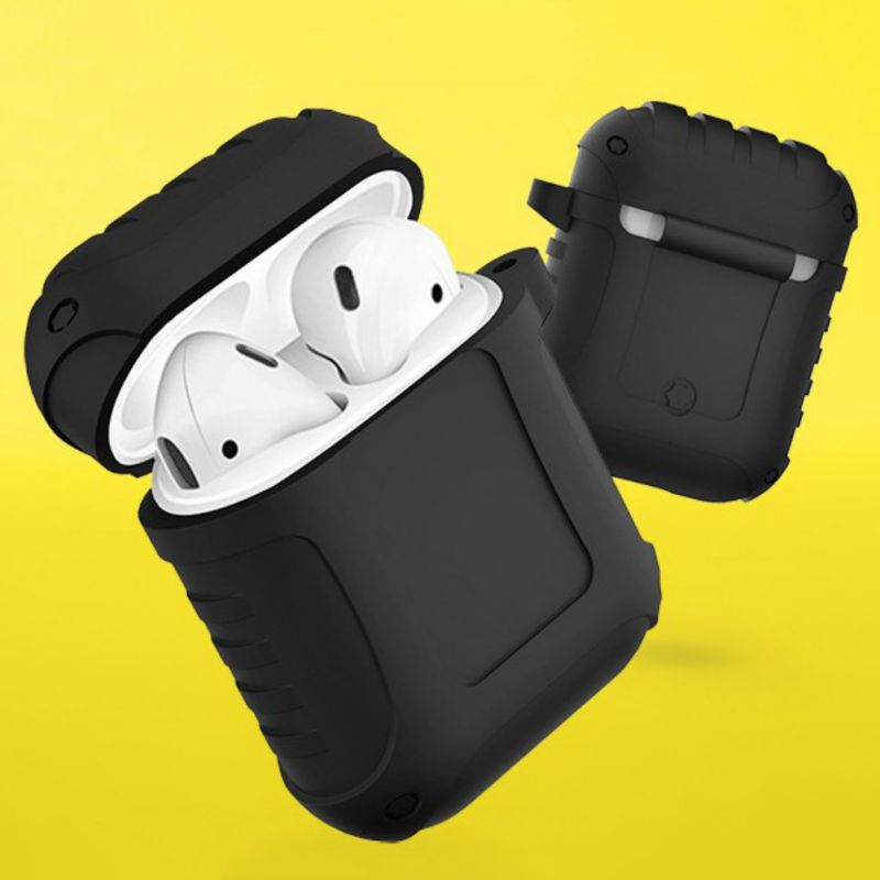 2019 New Earphones Headphone Full Protective Cover Waterproof Shockproof Case Silicone Cases with Hook for Airpods