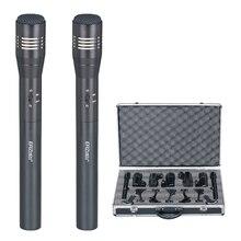 DR-770 Alta Qualidade de Som Profissional Condensador Gravação Microfone com o Choque de Montagem para o Rádio Broadcasting Cantar Preto