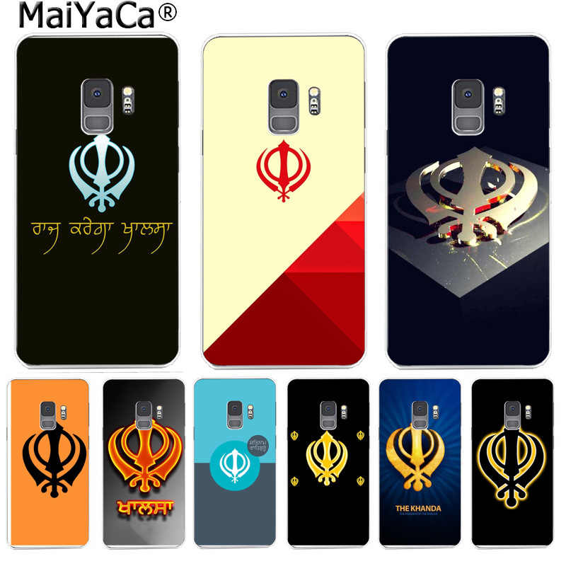 MaiYaCa Sikh Khanda Sikhism Cover Phone Cases Luxury Fashion for Samsung S9 S9 plus S5 S6 S6edge S6plus S7 S7edge S8 S8plus