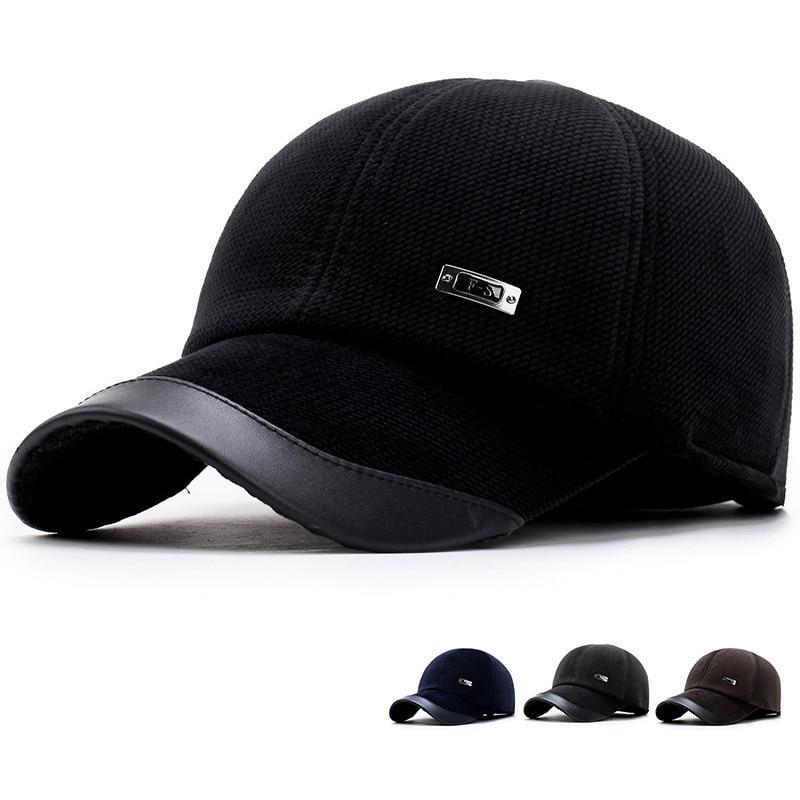 Shade Hats For Men Winter Spring Trucker Casual Cap Snapback Protect Ears Men Hat New Fashion Men Baseball Cap