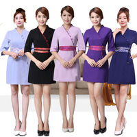 Designs Beautician Work Clothes Female Spring Summer Nurse Uniform Pharmacy Work Uniforms New Drugstore Dress SPA Workwear