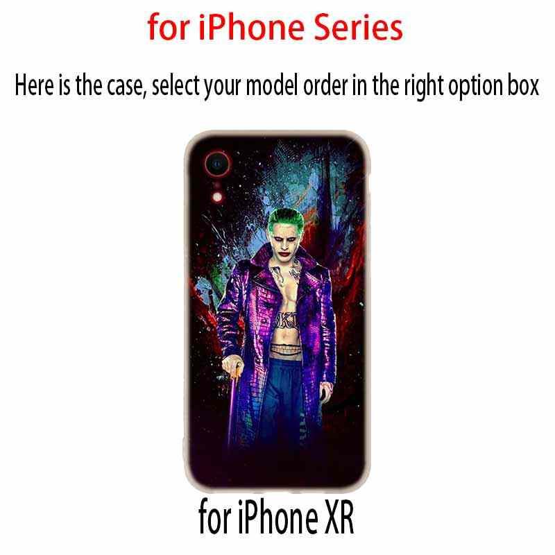 ハーレークイン自殺分隊ジョーカーカバーケースシリコーンソフト X XS 最大 XR 6 6 S 7 8 プラス 4 5 S 、 SE 9 電話ケース