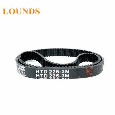 Dents en caoutchouc HTD3M 5 pièces/lot | Livraison gratuite, 3M 15 largeur 75mm longueur 225mm HTD3M 225 3M 15 Arc, courroie de synchronisation industrielle