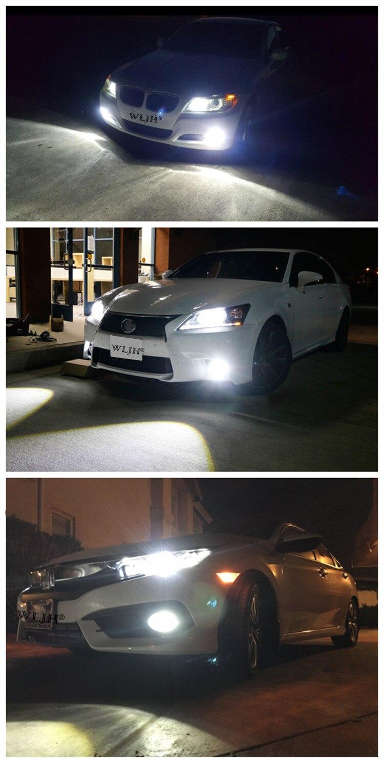 de condução automóvel carro luzes de nevoeiro led lâmpada drl 12 v-24 v