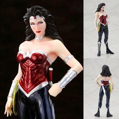7 Чудо-Женщина фигурку Окрашенные ПВХ Рисунок Коллекционная игрушка 18 см