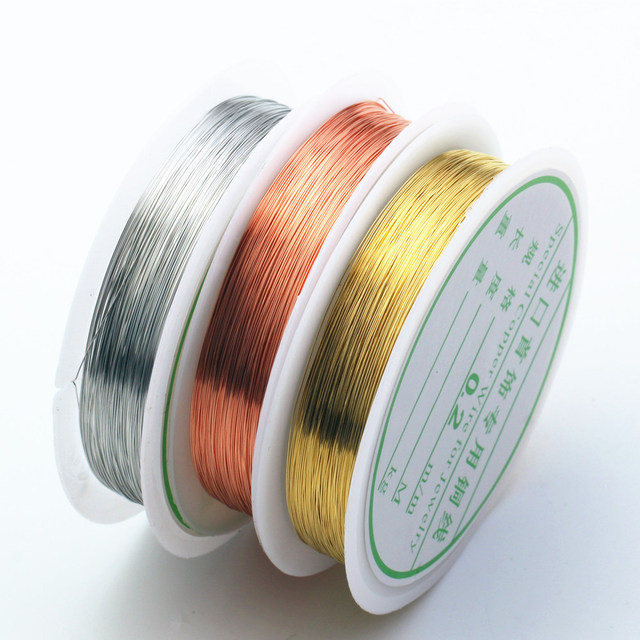 1Roll Silver Gold Plated Thin Soft Copper Wire Brass Line Cord For Craft Necklace Bridal Jewelry Making Material DIY Decorated