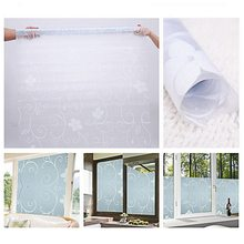 1PC 45X100cm Self-Adhesive Film Waterproof Window Privacy Film Sticker PVC Frosted Glass Opaque For Bathroom Living Room Decor(China)