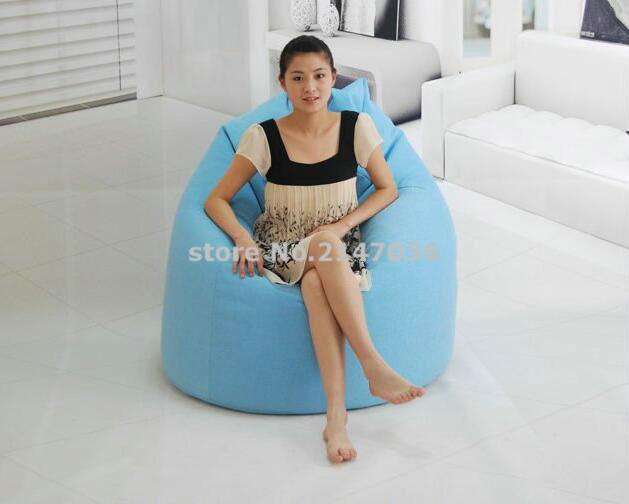 все цены на Blue Tear Drop design bean bag, living room beanbag chair, outdoor sofa seat cover онлайн