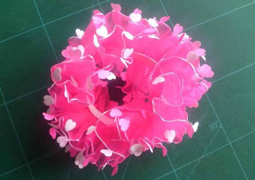 TS158 ผสมขายส่งเด็กใหม่มาถึงหัวใจดอกไม้ผมเชือกยางเด็กทารกเด็กอุปกรณ์เสริมผมน่ารัก