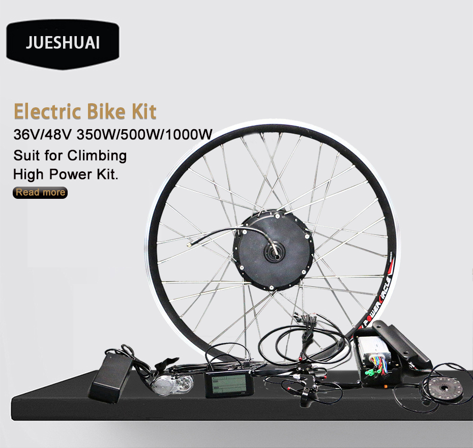 Cheap Free Shipping 36V 48V ebike Motor No Battery 250W 350W 500W 1000W Powerful Electric Bike kit LED LCD Display bldc controller MTB 0