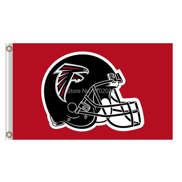 Nice Online Shop Atlanta Falcons Black Helmet Red Flag Banner Georgia  hot sale