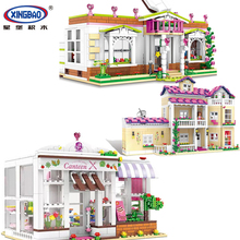 XINGBAO Kid Toys Girl  Friends The Happy Dormitory Set Building Blocks Bricks Educational For Children