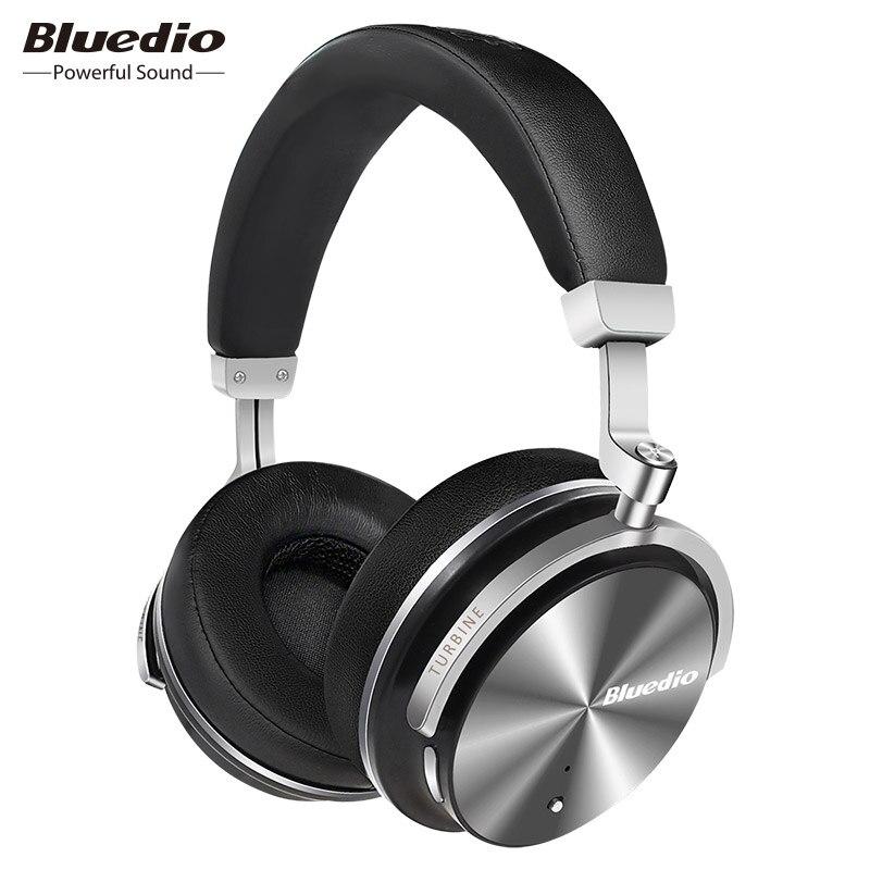 Bluedio T4S Active Noise Cancelling Wireless Bluetooth Cuffie senza fili Auricolare con microfono per telefoni