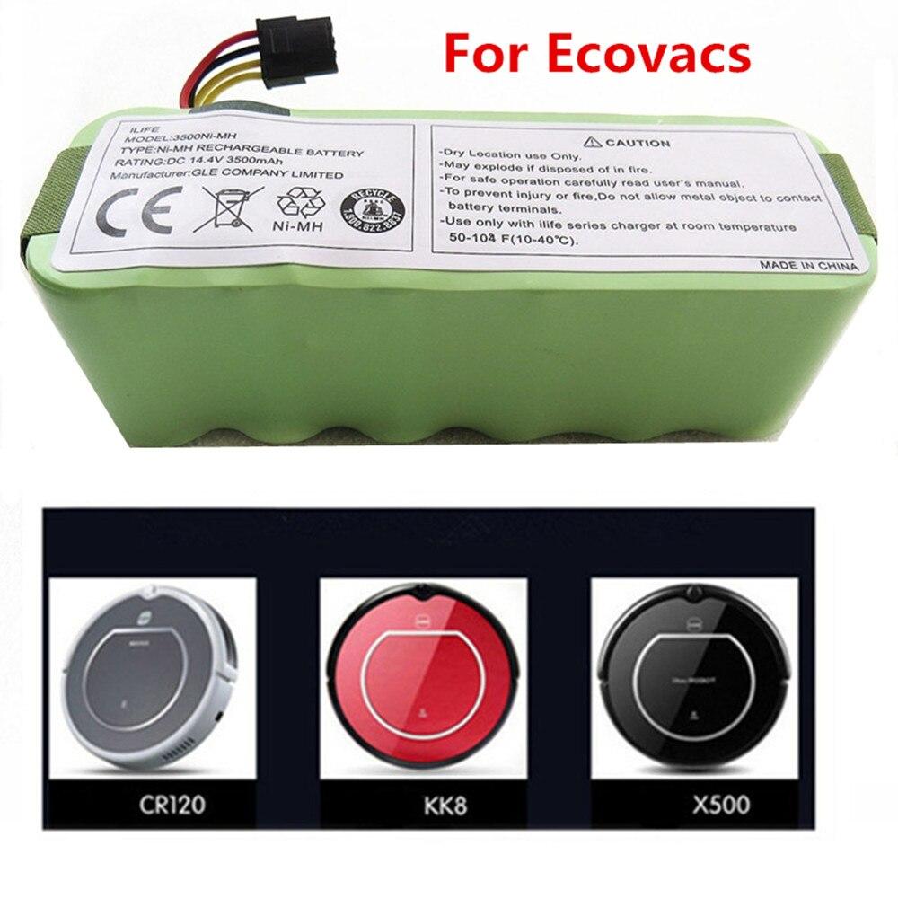Vente chaude 14.4 v 3500 mah Balayage Robot Batterie Pour Ecovacs CR120 Dibea Panda X500 X580 Kk8 Haier Haute qualité