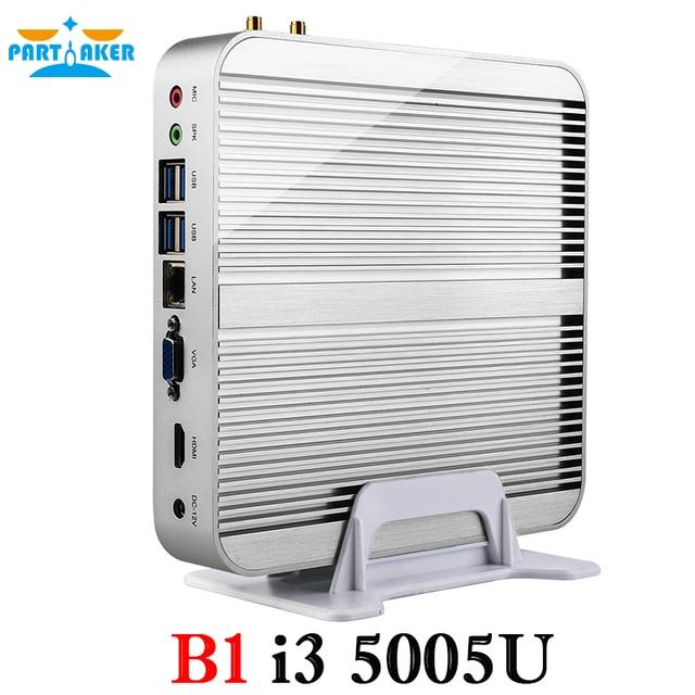 Горячие продажи Mini pc i3 5005U пятого Поколения процессор Бродуэлла Core Micro pc mini pc совместимость 4 К