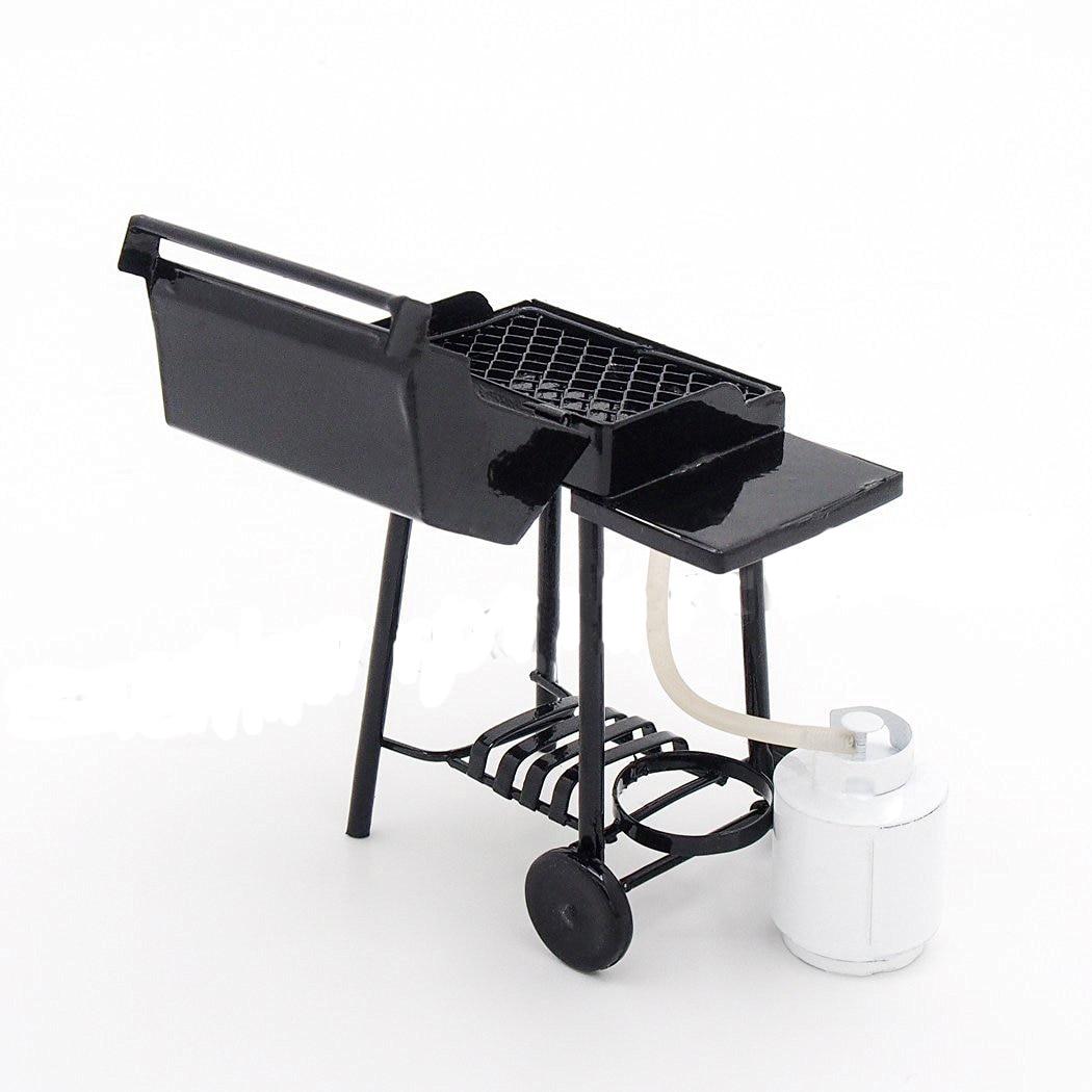 1:12 Iron BBQ Grill Miniature Garden Outdoor W// Propane Tan Dollhouse Home Decor