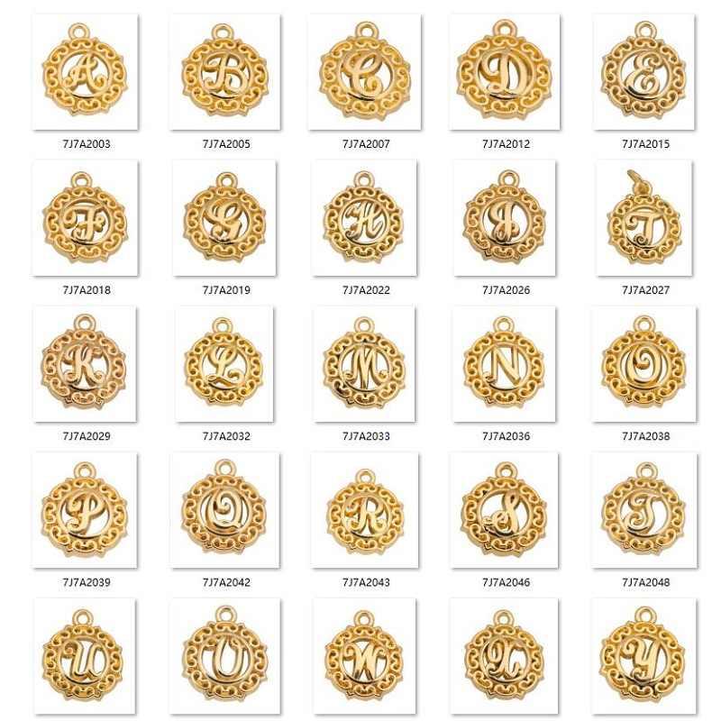 Teamer 20 шт./лот, оригинальная буква, сделай сам, шарм, алфавит, прыгающее кольцо, Подвески для изготовления ювелирных изделий, золотой цвет, подвеска для изготовления ожерелья