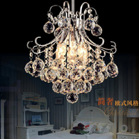 Free Shipping crystal lustres Dia 330mm silver luminaire 3 bulbs Clear Glass Chandeliers Antique Style Chandeliers