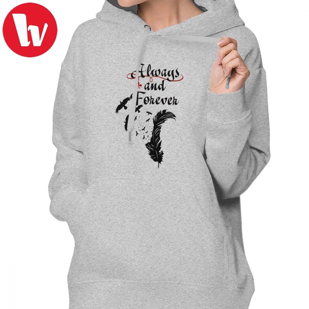 Vampire Diaries Hoodie Klaus Always And Forever Hoodies Cotton Long Sleeve Hoodies Women Graphic Streetwear Pullover Hoodie