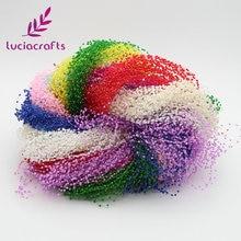Lucia crafts 1,2 м пластиковые искусственные жемчужные бусины, цепочка, гирлянда, цветы, Свадебная вечеринка, украшение для волос, 10 шт. C0503