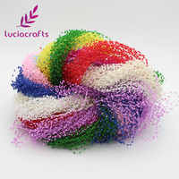 Lucia crafts 1.2m Plastic Artificial Pearls Beads Chain Garland Flowers Wedding Party Supply Hair decoration 10pcs C0503