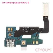 Для samsung Galaxy Note 2 GT-N7100 N7105 I317 I605 USB зарядное устройство док-станция порт разъем гибкий кабель