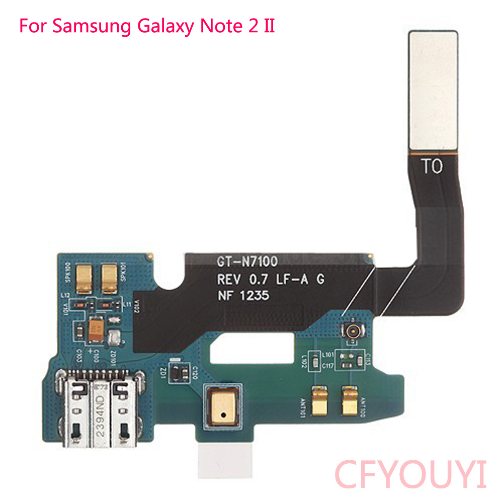 For Samsung Galaxy Note 2 GT-N7100 N7105 I317 I605 USB Charger Charging Dock Port Connector Flex Cable