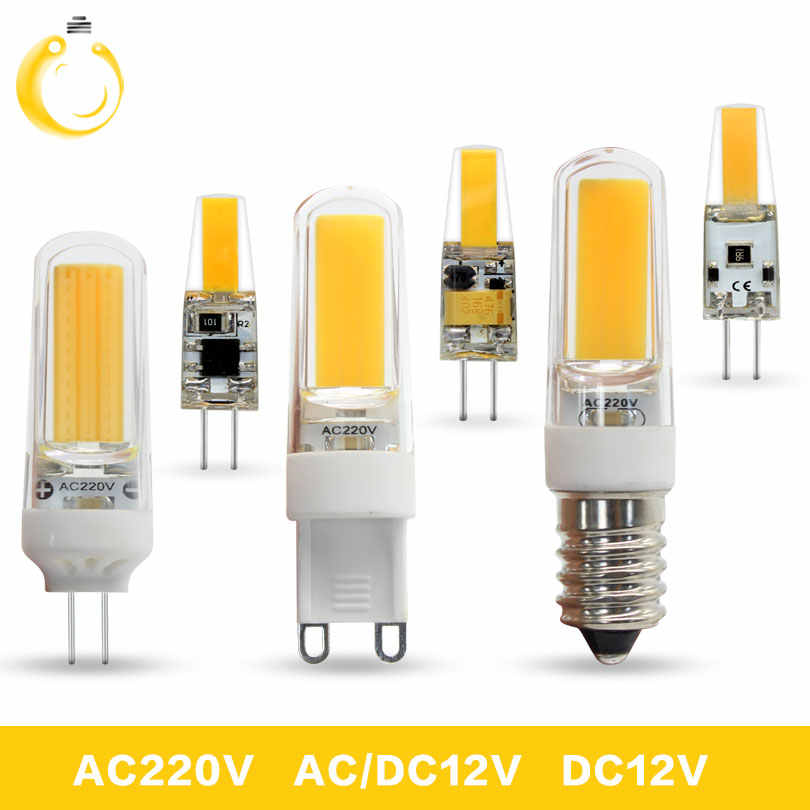 1PCS/Lot Lampada led 12V G4 G9 E14 220V 3W 6W 9W COB LED E14 Bulb G9 LED Lighting Lights replace Halogen Spotlight Chandelier