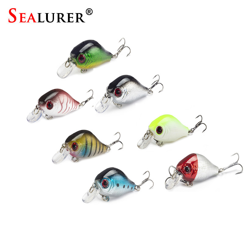 Sealurer Brand 7Pcs/lot 8cm/5.5g VIB Fly Fishing Lure Wobbler Floating Plastic Artificial Hard Bait Pesca Crankbait Fish Tackle sealurer big tongue minnow fishing lure float wobbler 16cm 27 5g sea fly pesca hard bait crankbait tackle 1pcs lot