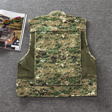 Outdoor Camouflage Fly Fishing Vest Life Jacket Quick Dry Mesh Fishing Vest M L XL XXL XXXL Photography Vest Fishing Tackle