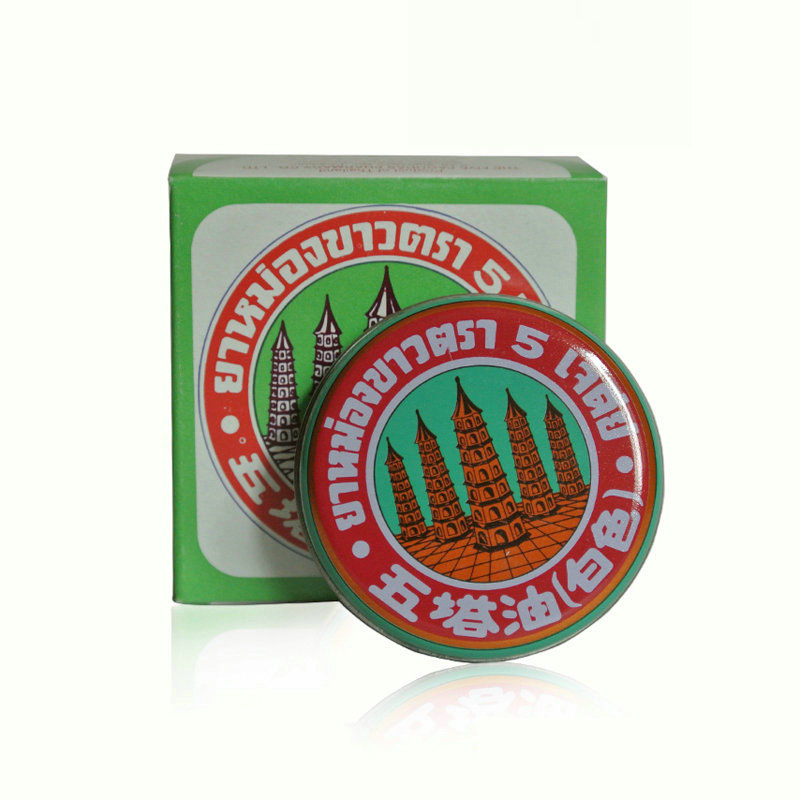 2Pcs/Lot Body care Thailand Five Pagoda oil body health effectively alleviating Abdominal swelling Anti-itch Mosquito Bite
