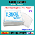 0609-Dust-Free Paper Fiber Cleaning Tools Optical Fiber Splicer Test Instrument Cleaning Wipes 300pcs/Pack