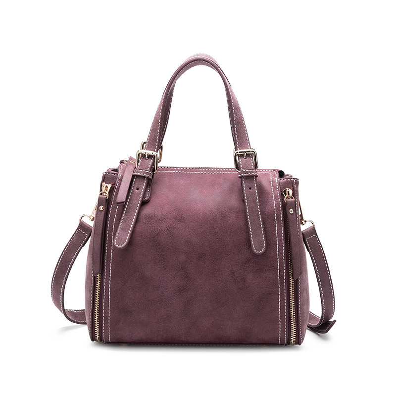 Autumn  Designer Nubuck Leather Women Handbag Lady Bucket Shoulder Crossbody Bag Split Casual Small Tote Bag
