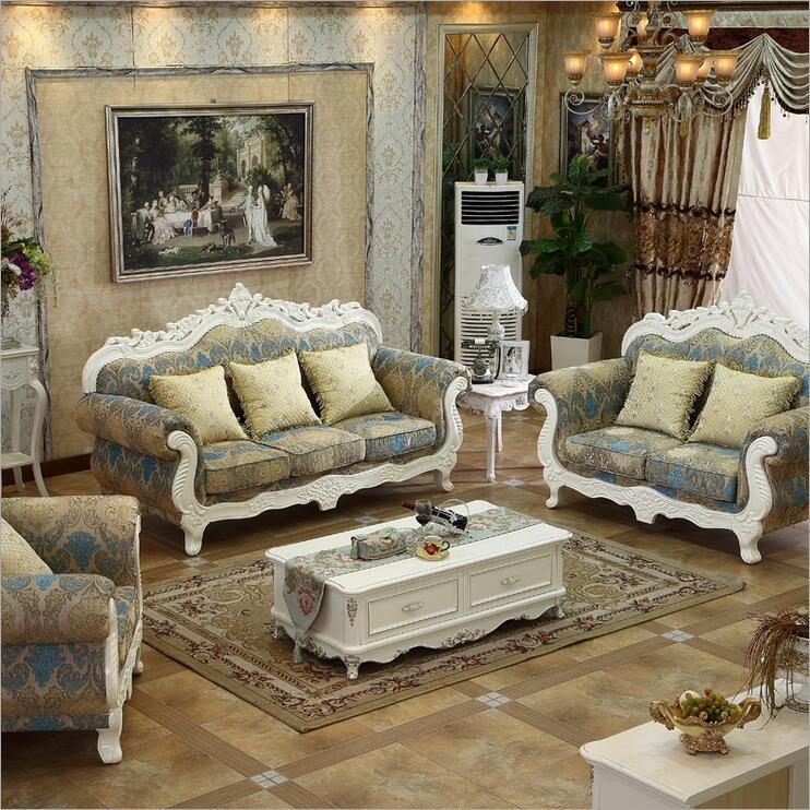 Living Room Furniture Modern Fabric Sofa European Sectional Sofa Set 1037