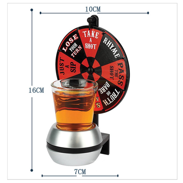 2017 New Arrival Party Games Lucky WHEEL of SHOTS Board Game Drink Toys with shot glass Novelty Gifts Family Parties Gag Toy HOT 2
