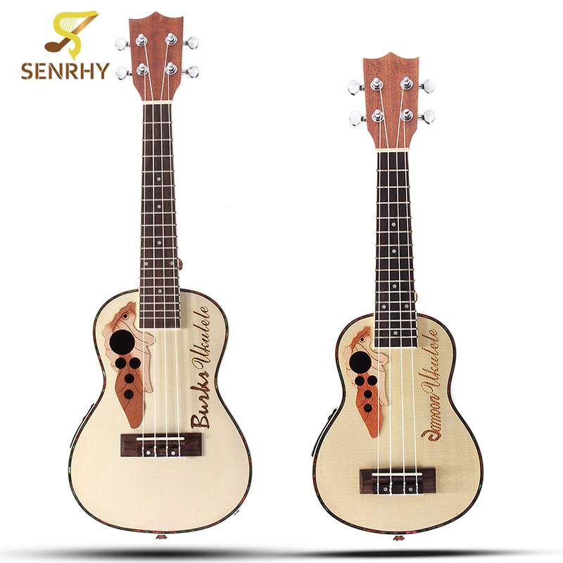 Hot 21'' 23'' Rosewood 4 Strings Concert Ukulele Uke Acoustic Electric Bass Guitarra Guitar for Musical Stringed Instruments 3 holder iron foldable acoustic electric bass guitar guitarra stand holder bracket mount for musical instruments part accessoris