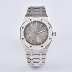 41mm luksusowy zegarek zegar ze stali nierdzewnej sapphire zegarek kryształowy mechanizm automatyczny mężczyźni PS-17