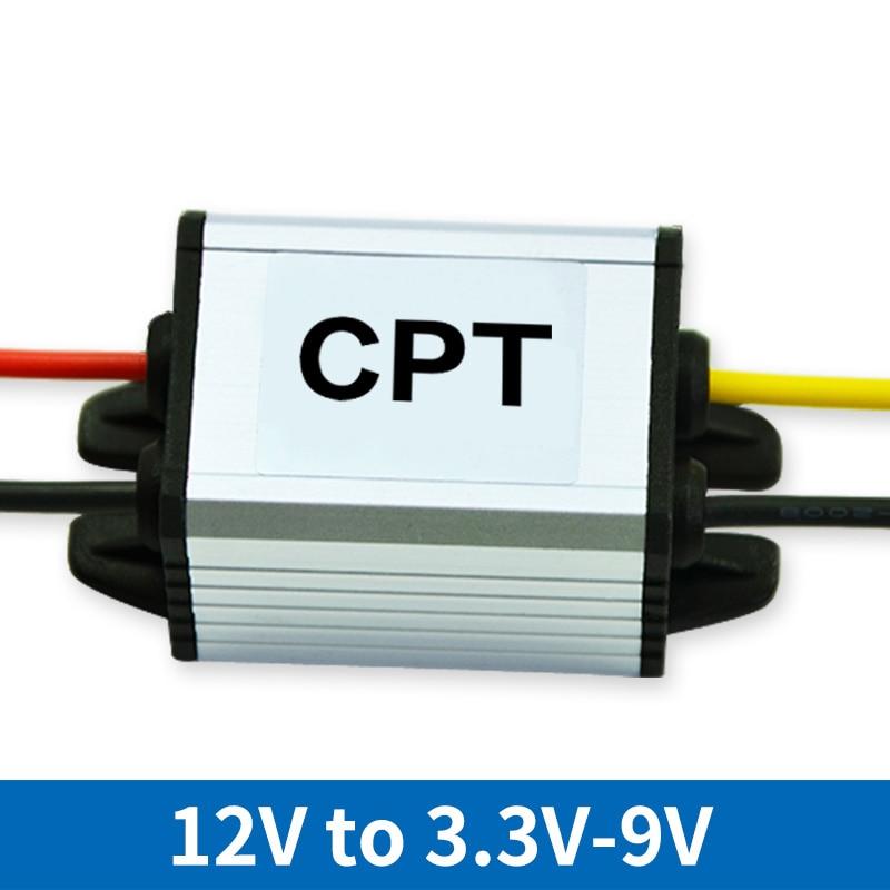 цена на Waterproof Power Supply DC DC Converter Step-down 12V to 3.3V 5V 6V 7.5V 9V 3A Control Car Module Low Heat Auto Protection