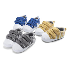 Baby Shoes Girl Boy Soft Canvas Sneaker Sole Crib Comfortable Walking