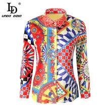 3XL Plus size Blouses Chiffon Print Shirt Blouse