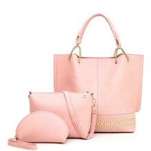 Composite bag Three bolsos women Casual Contain packages Luxury handbag Designer Shoulder bags for