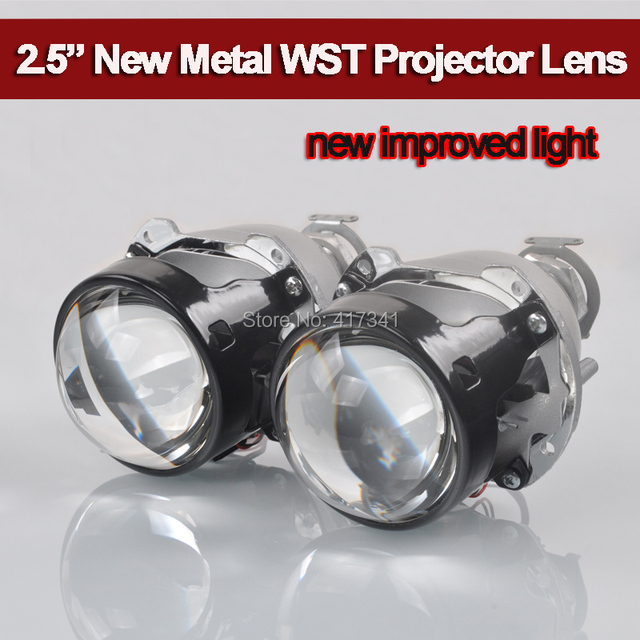 New Price 2018 Upgrade High Bright Full Metal H4 H7 Projector 2.5 WST Mini HID Bi-xenon Projector for Auto Headlight Using H1 HID Bulb