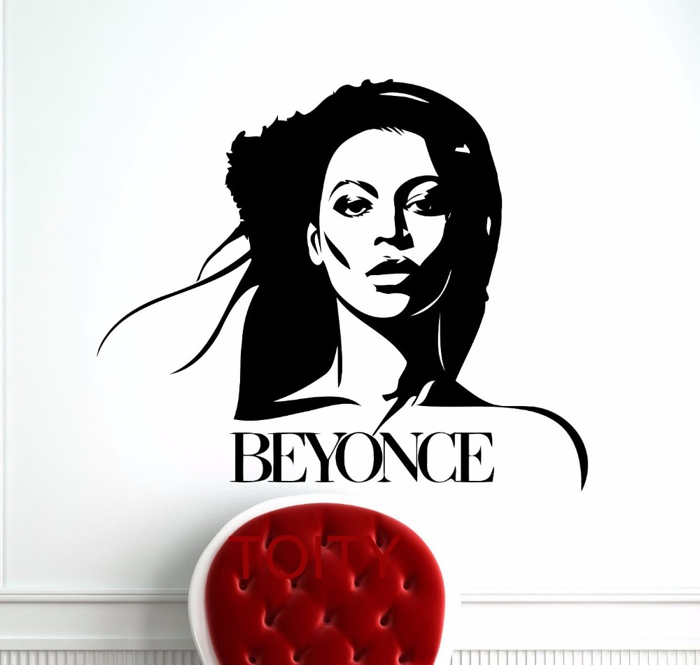 Buy beyonce wall sticker celebrity pop for Celebrity mural