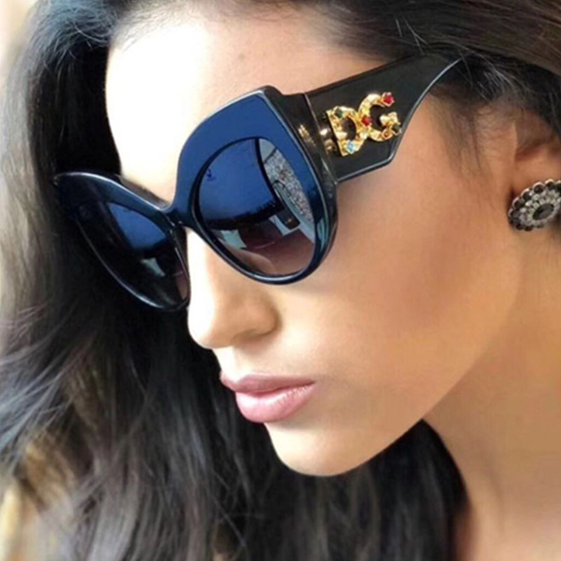 ... Gradient Pas Cher En Ligne . Vente Phoemix Cat Eye lunettes de Soleil  Grand Cadre Vintage Rétro Femmes Concepteur de Marque ... f37eb5f888e3