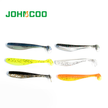 JOHNCOO 72pcs 7cm 1.85g Artificial Lure Pesca Soft Fishing Lure Wobblers Silicon Lure Double Color Carp Fishing Tackle