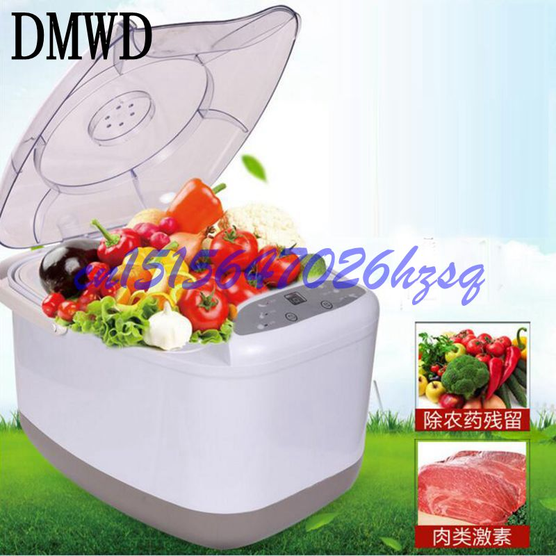 DMWD Household Electric Ozone machine Vegetable washer Automatic ozone disinfection machine fruit and vegetable  fruits vegetable ultrasonic washer fruit washing machine cleaner wash vegetables meat pesticides ozone disinfection us eu plug